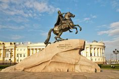 The Bronze Horseman is an equestrian statue of Peter the Great in Saint Petersburg, Russia.