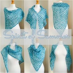 Free Pattern: 'Spirit of Summer' Crochet Shawl | Crafts from the Cwtch