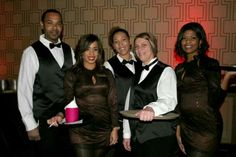 Banquet staff at the Golden Nugget Casino in Biloxi Mississippi