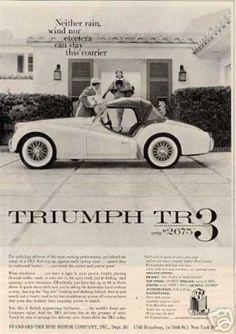 1960 Triumph TR-3 TR3 LTG3 Vintage Advertisement Ad Horse bet