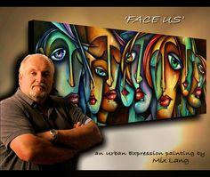 Painting Demo.URBAN EXPRESSIONS Modern Art.Start to Finish M.Lang