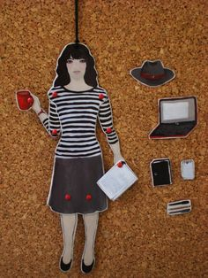 The Writer Altar Ego articulated paper doll by rowenamurillo. This is the year I say YES to being a writer. Hello, writer-me.
