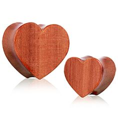 Organic Red Cherry Wood Heart Saddle Plug by Every Body Jewelry Plugs Earrings, Gauges Plugs, Organic Plugs, Wood Plugs, Rose Quartz Heart, Inked Shop, Body Mods, Body Jewelry, 1 Piece