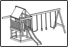 jungle gym and playhouse fort swing set plans 13 - Shilo Turri - Re-Wilding Toddler Playground, Playground Set, Backyard Playground, Backyard For Kids, Backyard Ideas, Swing Set Plans, Swing Sets For Kids, Gym Plans, Build A Playhouse