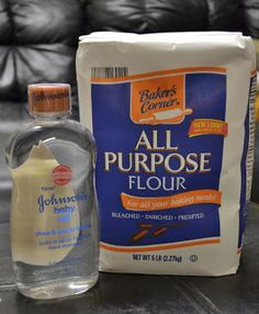 Let's make it! 8cups all purpose flower & 1cup baby oil mix well and you have cloud dough or FKA moon sand!