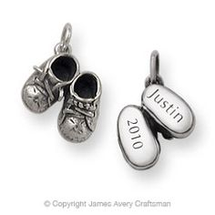Boy's Baby Shoes Charm from James Avery--love!
