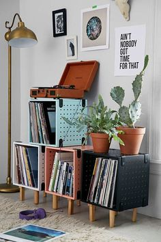 Trendy bookshelves to make a statement.