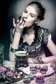 "SEVEN DEADLY SINS ""GLUTTONY"" Photo: Aiste Ginaityte Model: Laura Petkevičiūtė Style: Justina Semčenkaitė Make up: Solveiga Blium  / meduza photography / dark / fashion / beauty /"