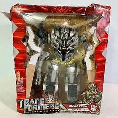 Transformers Revenge of the Fallen Megatron Action Figure NIB 2008 Transformers Devastator, Hasbro Transformers, Transformers Prime, Revenge Of The Fallen, New Kids Toys, 90s Toys, Instagram Shop, Action Figures, Rock