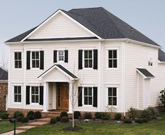 Classic home in James Hardie's Arctic White ColorPlus Technology.