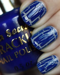 All Cracked Up with Crackle Nail Polish Garra, Get Nails, Hair And Nails, Nail Polish Designs, Nail Art Designs, Mani Pedi, Pedicure, Crackle Nails, Fabulous Nails