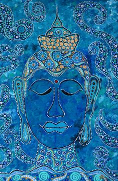 Original  painting Buddha Large Deep Gallery by DreamtimeStudios