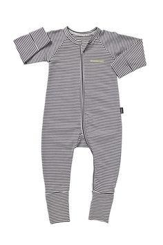 Bonds Zip Wondersuit Absolute Steel & White Stripe