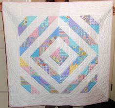 Diamond Baby Quilt or my love of half-square triangles continues... - QUILTING