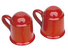 Red Salt & Pepper Set (2-pc.) by Mamma Ro
