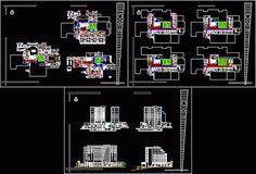 Plan d'un Hôpital en dwg