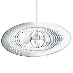 172€ OMANO - Suspension Chrome & Verre Blanc L60cm - Suspension Eglo designé par EGLO LIGHTING
