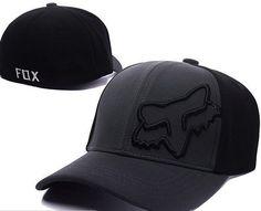 ca559c266c2 Fox Racing Flex 45 Flexfit Hat Adult Mens Black Baseball Cap Sunvisor T2   fashion