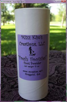 Mizz Kim's Fresh Footsie Foot Powder! www.mizzkim.net