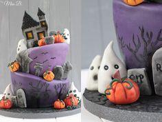 Miss Blueberrymuffin's kitchen: Halloween Motivtorte [Teil 2 - Fondant modellieren, Torte dekorieren]