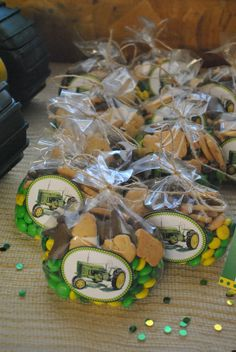 Tractor party favors