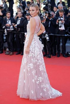 """Tallia Storm attends the """"Okja"""" screening during the 70th annual Cannes Film Festival at Palais des Festivals on May 19, 2017 in Cannes, France."""