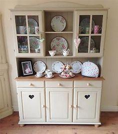 Lovely hand painted kitchen dresser. #Shabby chic #Dresser #Hutch