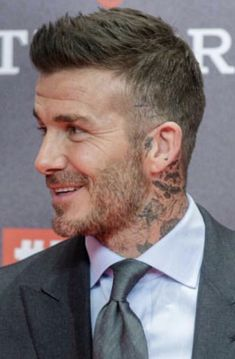 Classic Mens Hairstyles, Mens Hairstyles With Beard, Hair And Beard Styles, Haircuts For Men, David Beckham Haircut, David Beckham Style, Short Hair Cuts, Short Hair Styles, High And Tight Haircut