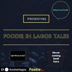 Food/Eating in Lagos doesn't have to be complex when you've got a food guide. @foodieinlagos has got you covered.  #Repost @foodieinlagos with @repostapp  Ever thought of letting a restaurant or an establishment know how you felt about their service be it good bad or ugly? Or you just want to share for the sake of it to help others?   Well you can now share your foodie experiences with us and we'll be sure to let them know how you feel   Feel free to share and don't worry it will be…