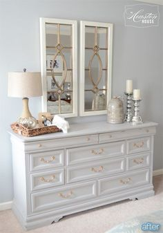 Better After: Dresser Caresser. I love those mirrors!