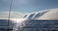 "Look at that ""Water and Roll Cloud"" Onlookers ""freaked out"" as Lake Michigan has rare moment"
