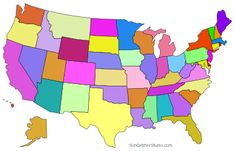 USA states colored blank - /geography/Country_Maps/U/United_States/USA_with_states/USA_states_colored_blank.