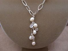Silver and pearls..