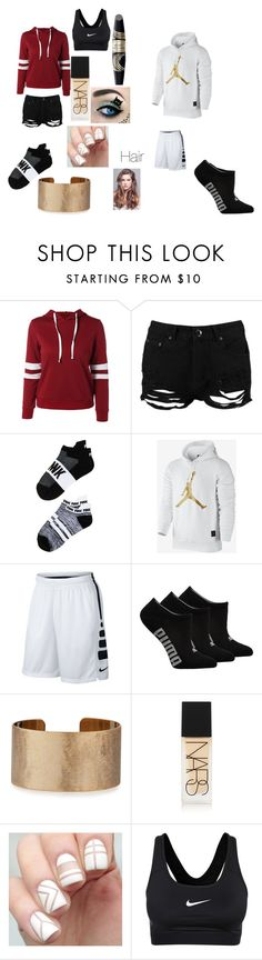 """Youtube/ make out"" by explorer-14484921021 on Polyvore featuring Boohoo, Victoria's Secret, NIKE, Puma, Panacea, NARS Cosmetics and Max Factor"