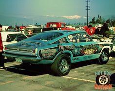 Arlen Vanke's Barracuda drag car