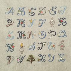 The Beauty of Japanese Embroidery - Embroidery Patterns Pillow Embroidery, Embroidery Alphabet, Embroidery Monogram, Machine Embroidery Patterns, Ribbon Embroidery, Floral Embroidery, Embroidery Stitches, Embroidery Designs, Polka Dot Mittens