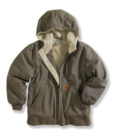 Take a look at this Shale Brown  amp  Blue Ridge Jacket - Boys by Carhartt 51a6319e67