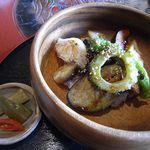 ナイヤビンギ - 料理写真:ランチのメイン「夏野菜たっぷり丼」