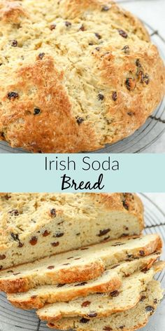Irish Soada Bread is a true bakers dream! Easy to make and delicious to enjoy! This Irish Soda Bread recipe is easy to make crispy on the outside and dense but still soft on the inside. Patrick's Day or any time of year! Saint Patrick, Irish Recipes, Irish Soda Bread Recipes, Baking Soda Bread Recipe, Easy Irish Desserts, Irish Bread, Easy Bread, Sweet Bread, Side Dish Recipes