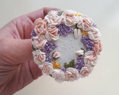 Items similar to Fabric Necklace in Brown and Orange, Upcycled Fabric, Fabric Jewelry, Textile Pendant Necklace, OOAK on Etsy Fabric Necklace, Fabric Jewelry, Embroidered Roses, Rococo Style, Felt Brooch, Brooches Handmade, Antique Lace, Purple Roses, Gifts For Mom