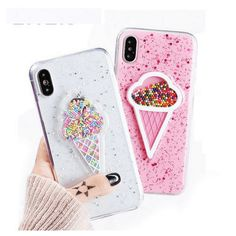 iPhone X Ice Cream Sprinkles Case Pick your favorite color today! Keep your phone safe and your brain amused while you watch the sprinkles move about. This stunning phone case is made to fit your iPhone X perfectly. Diy Iphone Case, Iphone Phone Cases, Phone Covers, Cellphone Case, Pink Iphone, Baby Iphone, Apple Iphone 6, Coque Smartphone, Coque Iphone