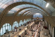 Inside the Orsey Museum in Paris