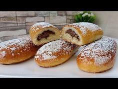 بريوش محشي خفيف ريشة .. لذيذ و يحضر بسرعة و غير مكلف - YouTube Middle Eastern Desserts, Bread Rolls, Cookie Recipes, Hamburger, Cookies, Ramadan, Buns, Cake, Breads