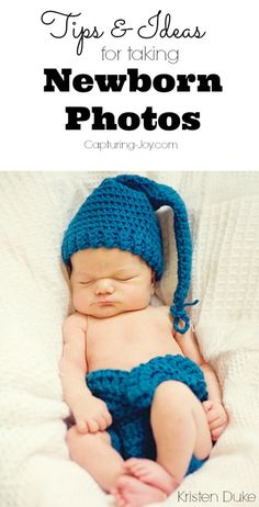 Tips and tricks for taking pictures of newborns!  Definitely pin to read later! Capturing-Joy.com