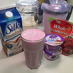 My absolute fav post workout shake  Strawberry Cheesecake ☺️ Simple recipe: 1 scoop of vanilla protein powder, 5 oz of cheesecake Greek yogurt, 1 cup of unsweetened almond milk & a handful of frozen strawberries ☺️☺️ Blend & enjoy. Carb count: 15g  Side Note: I'm trying to figure out how to do this with the Caramel Apple Pie Yogurt without using actual apples  Too many carbs in apples for me. Maybe I should focus on adding cinnamon or something vanilla  Ima work on it tho. #E...