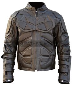 New Men Handmade Batman Costume Motorcycle Leather Jacket - Genuine Leather #Handmade