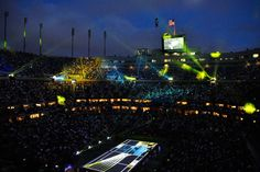 Some of the sights from the opening night ceremonies at Arthur Ashe Stadium at the US Open. - Don Starr/USTA