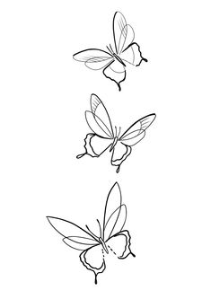Butterfly Line Art, Simple Butterfly Tattoo, Butterfly Tattoo Designs, Pretty Tattoos, Cute Tattoos, Tatoos, Mini Tattoos, Body Art Tattoos, Half Mandala Tattoo