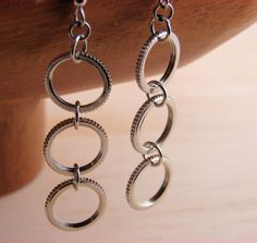 Drop Earrings Long Dangles Hardware Jewelry Eco Friendly Lightweight Everyday
