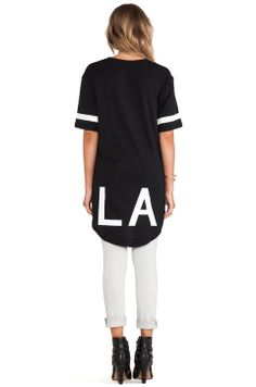 Stampd Elongated LA Tee in Black